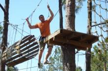 Parcours aventure dans les arbres ''Ventoux Aventure''