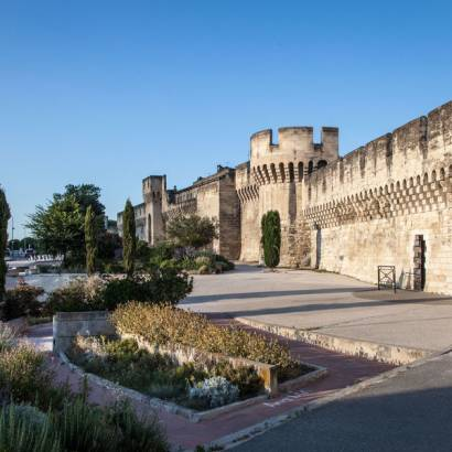 Ramparts around the walled city of Avignon